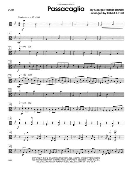 Passacaglia - Viola