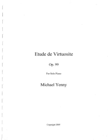 Etude de Virtuosite, op. 99