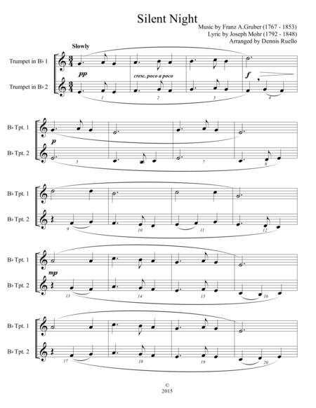 6 Traditional Christmas Carols for Trumpet Duet - Intermediate