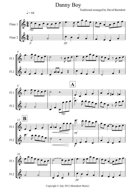 Danny Boy for Flute Duet