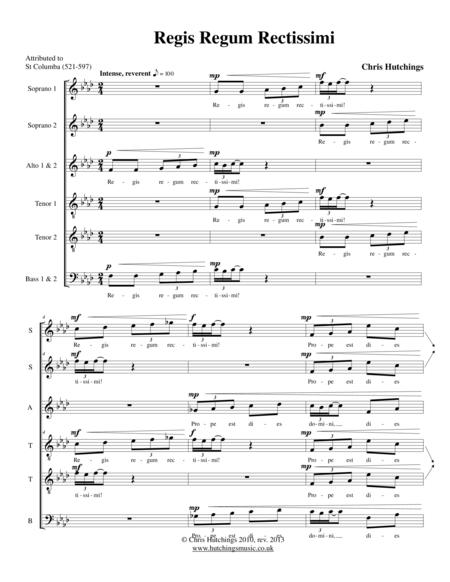Regis Regum Rectissimi - SSAATTBB choir