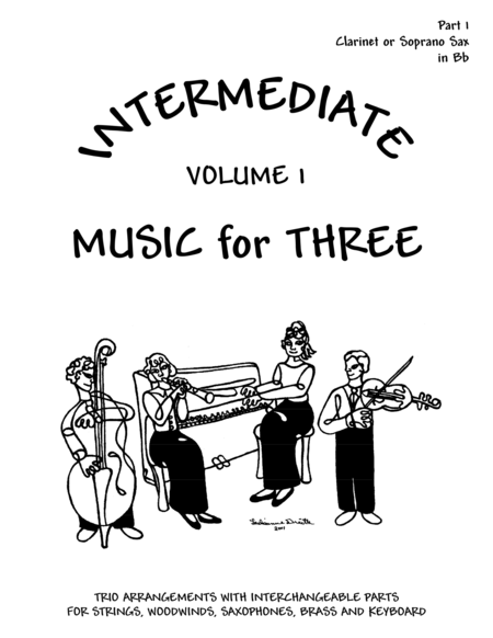 Intermediate Music for Three, Volume 1, Part 1 Clarinet in Bb DD52113