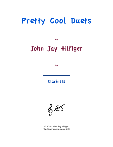 Pretty Cool Duets for Clarinets