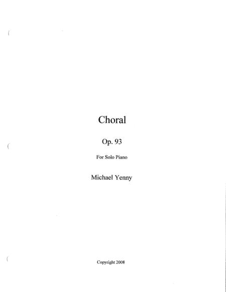 Choral, op. 93