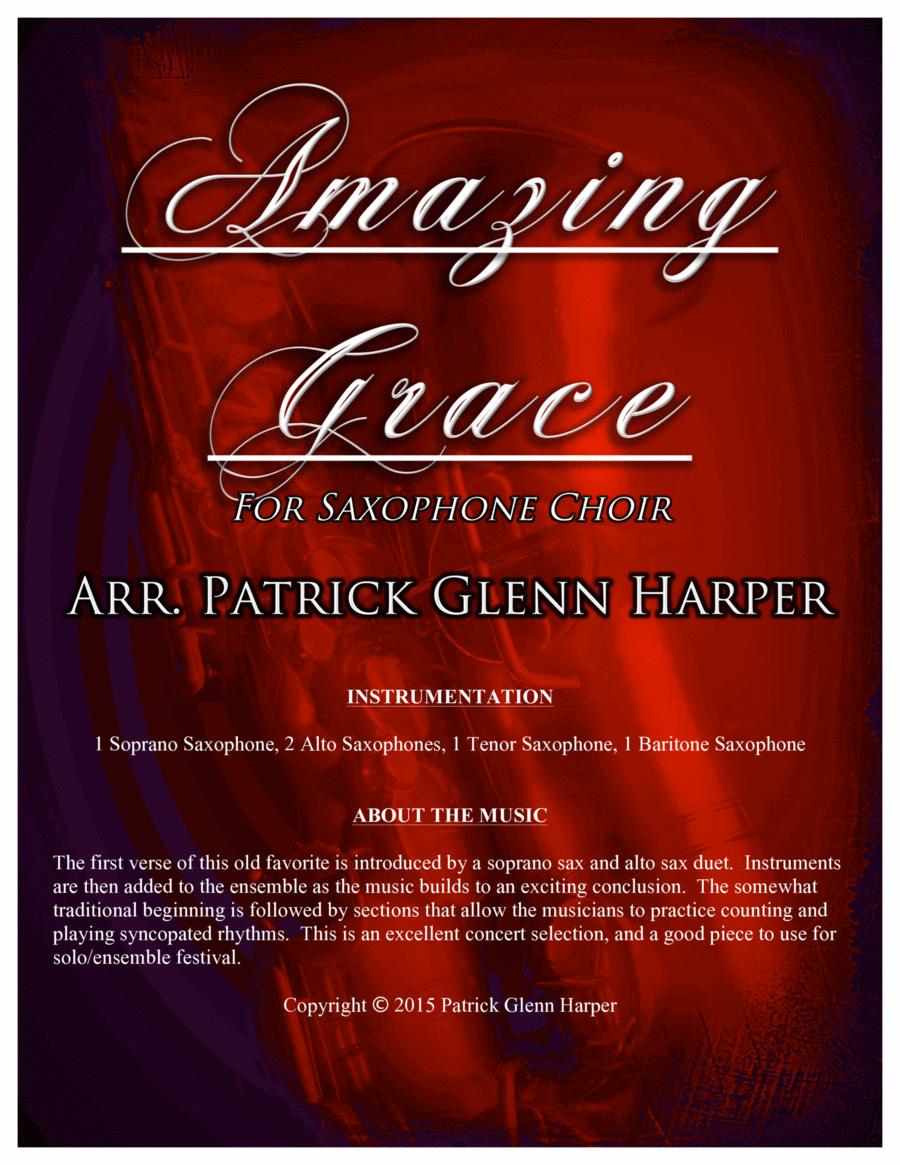 Amazing Grace - for Saxophone Choir