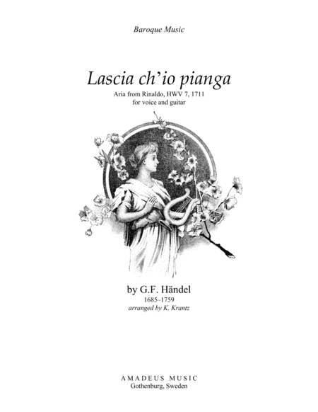 Aria - Lascia ch'io pianga for voice and guitar