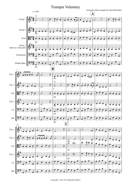 Trumpet Voluntary for String Orchestra
