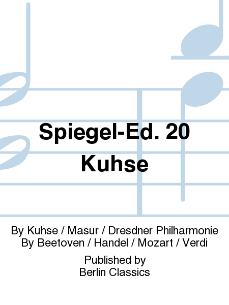 Spiegel ed 20 kuhse sheet music by kuhse masur for Spiegel your name