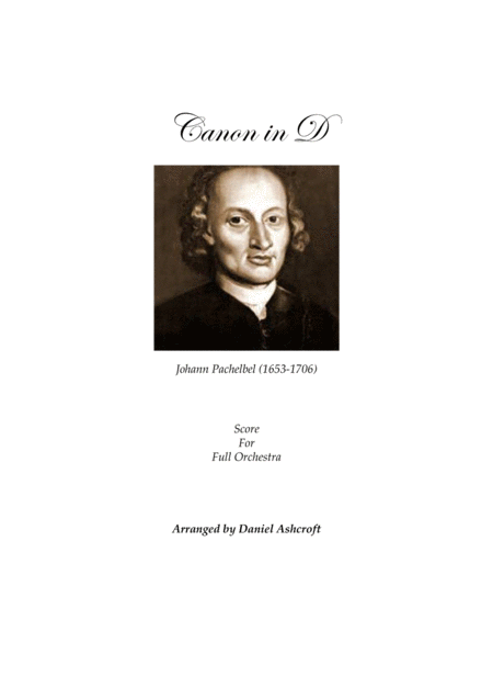 Pachelbel's Canon in D - Score Only