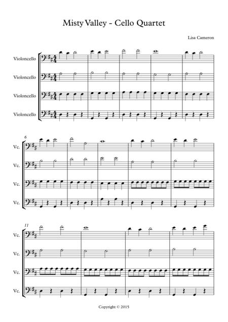 Misty Valley - Cello Quartet