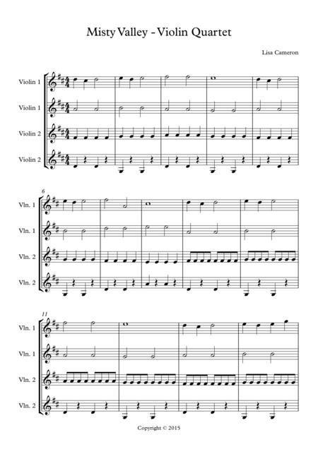 Misty Valley - Violin Quartet