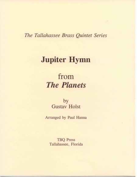 Jupiter Hymn (I Vow To Thee My Country)