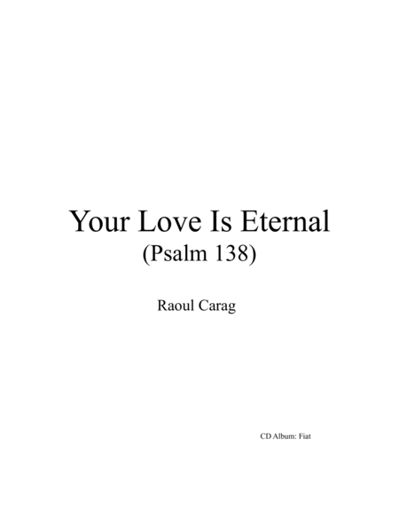 Your Love Is Eternal (Psalm 138)