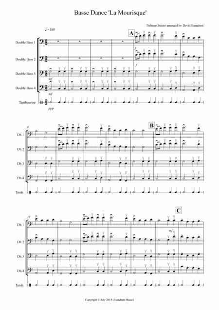 Basse Dance by Susato for Flute Quartet