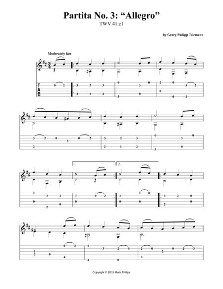 """Partita No. 3: """"Allegro"""""""