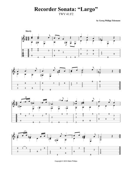 "Recorder Sonata: ""Largo"""