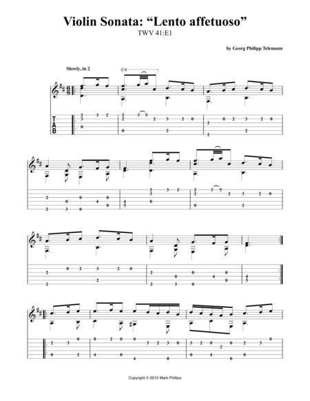 """Violin Sonata: """"Lento affetuoso"""""""