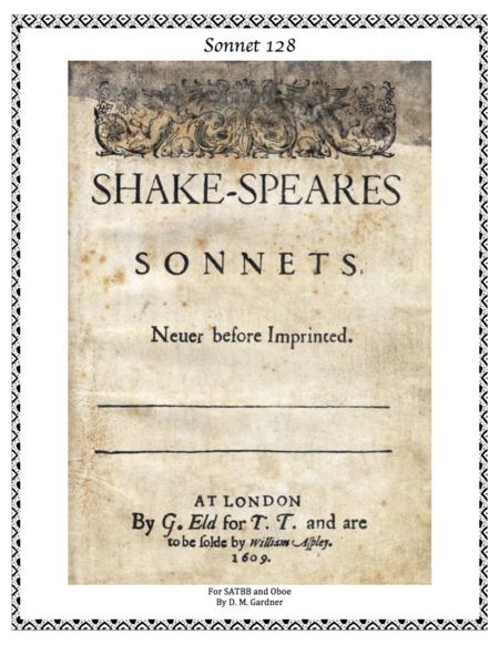 Sonnet 128 - William Shakespeare (SATBB and Oboe)