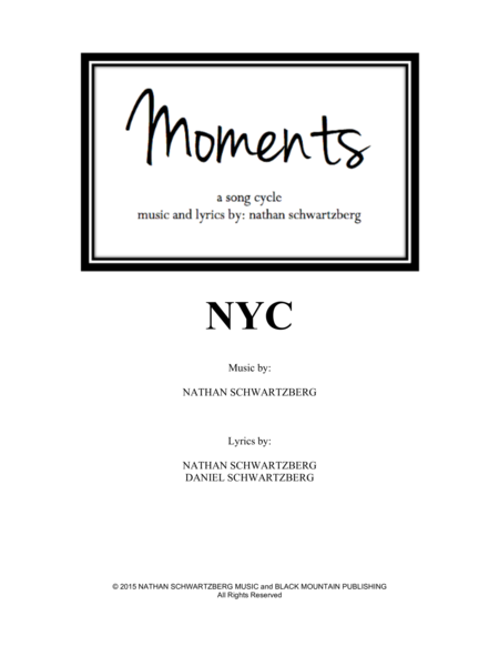 NYC (Moments - a song cycle)