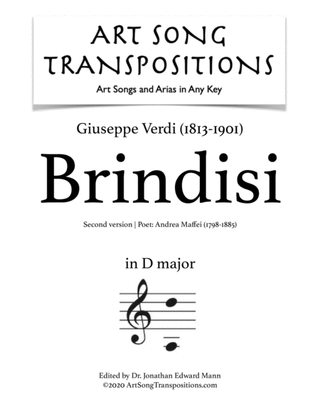 Brindisi (2nd version; D major)