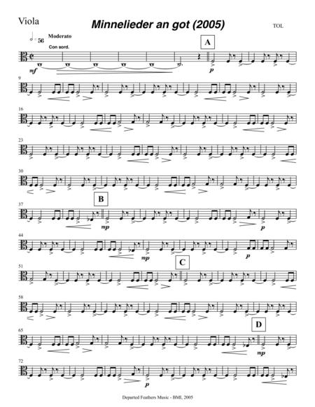 Mechthild von Magdeburg ... Minnelieder an Got (2005) for chorus, harp and string quintet: viola part
