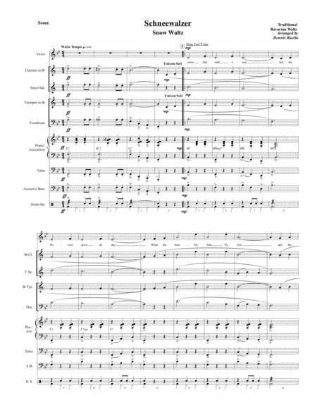 Schneewalzer (Snow Waltz) -  German Band (with opt. voice part) -  Oktoberfest / Christmas