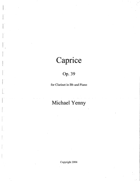 Caprice, op. 39