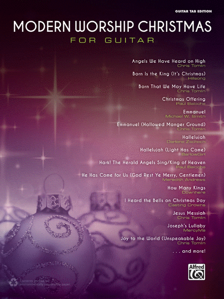 Modern Worship Christmas for Guitar