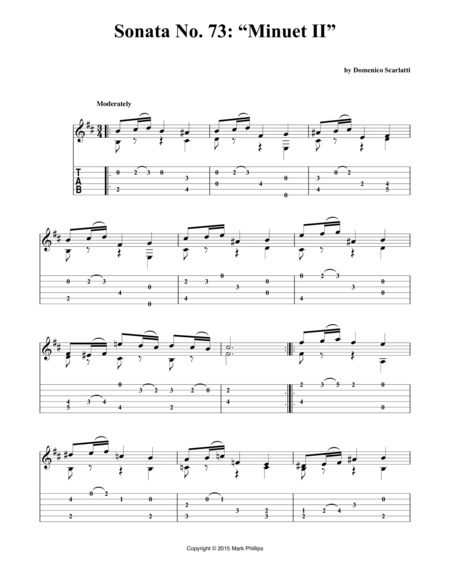 "Sonata No. 73: ""Minuet II"""