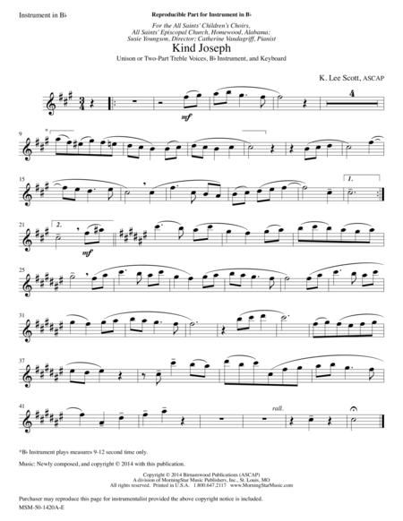 Kind Joseph (opt. C/B-flat Instrument Part)