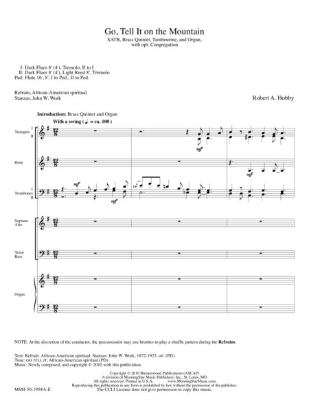 Go Tell It on the Mountain (Brass Setting Score)