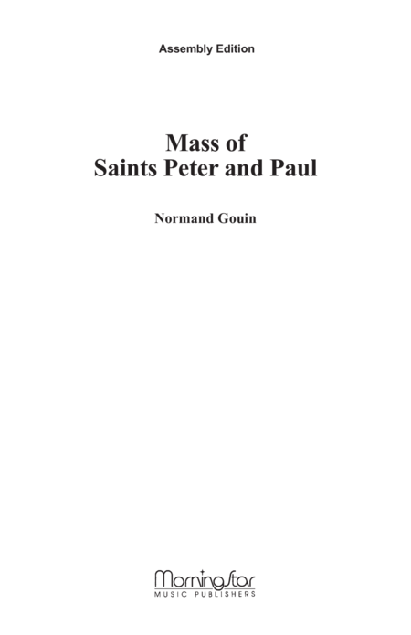Mass of Saints Peter and Paul (Assembly Edition)