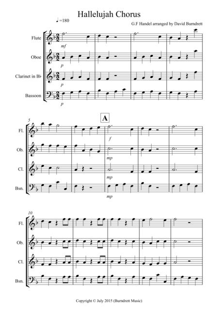 Hallelujah Chorus for Wind Quartet