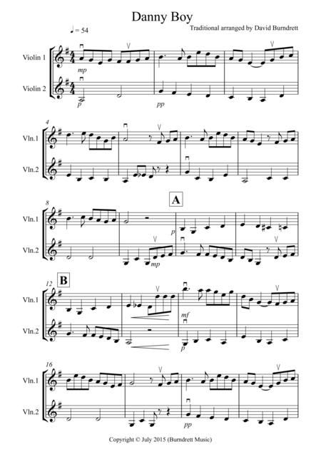 Danny Boy for Violin Duet