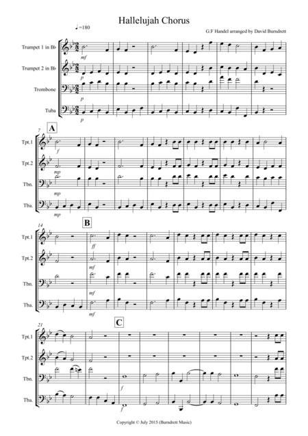 Hallelujah Chorus for Brass Quartet