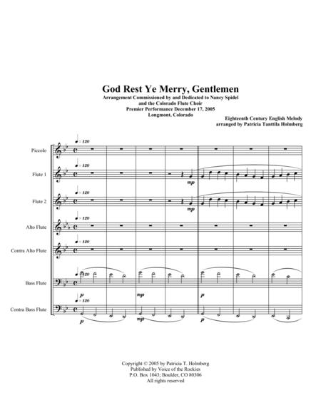 God Rest Ye Merry, Gentlemen - for flute choir