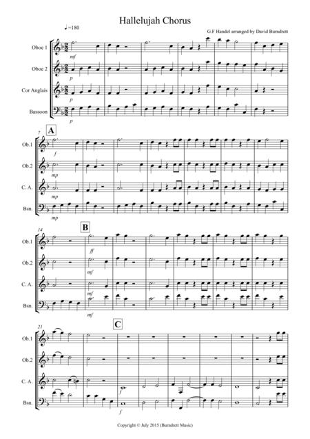 Hallelujah Chorus for Double Reed Quartet
