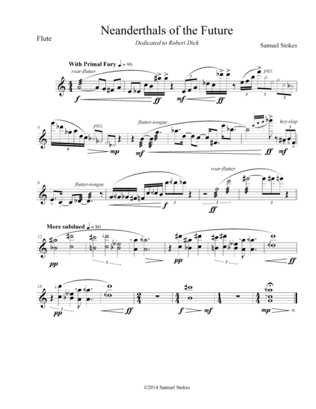 Neanderthals of the Future - for flute solo (with extended techniques)
