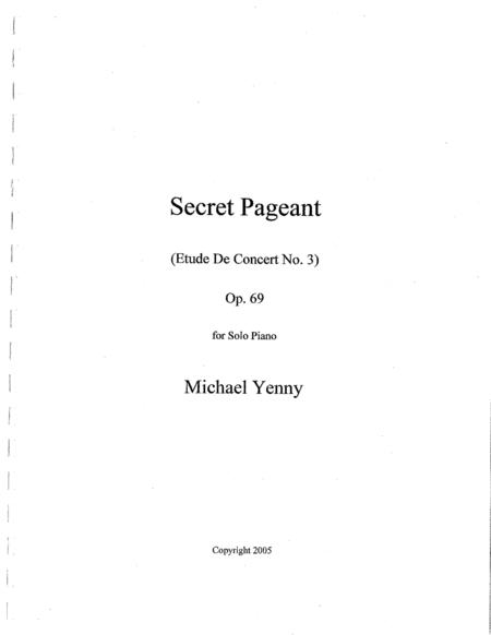 Secret Pageant, op. 69