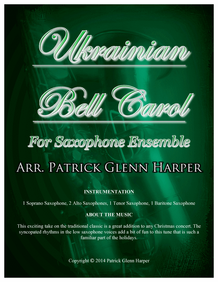 Ukrainian Bell Carol - for Saxophone Ensemble