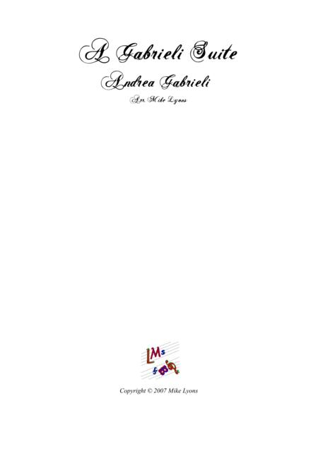 A Gabrieli Suite (Brass quartet w. percussion)