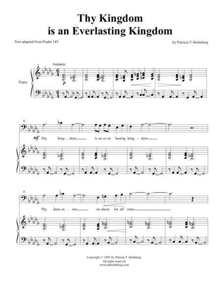 Thy Kingdom is an Everlasting Kingdom