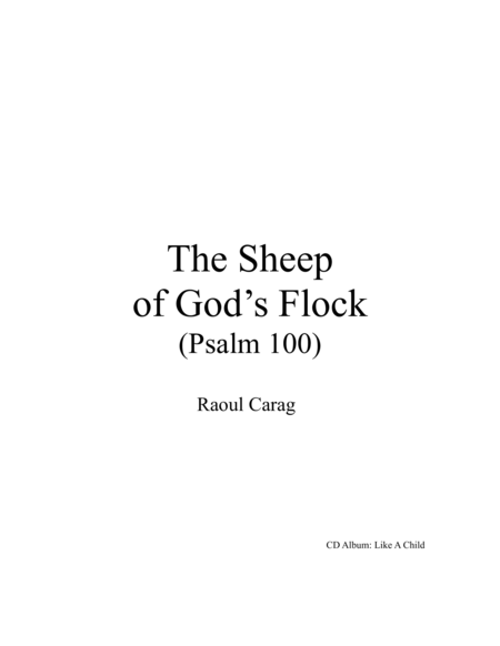 The Sheep of God's Flock (Psalm 100)