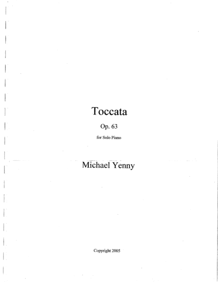 Toccata, op. 63