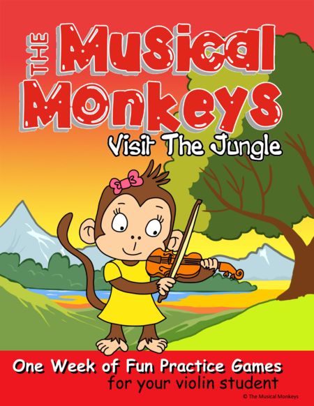 One Week Practice Fun for Young Violin Students - Learn about jungle instruments