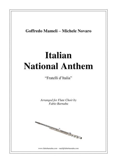 Italian National Anthem - Fratelli d'Italia - for Flute Choir