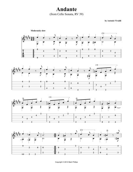 Andante (from Cello Sonata, RV 39)
