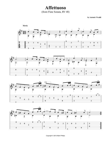 Affettuoso (from Flute Sonata, RV 48)