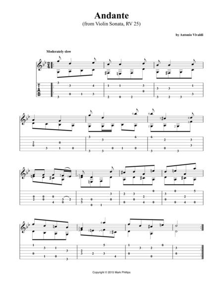 Andante (from Violin Sonata, RV 25)
