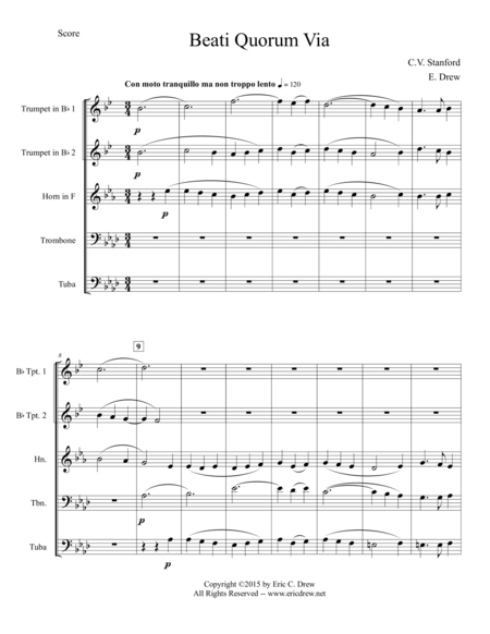 Beati Quorum Via (for Brass Quintet)